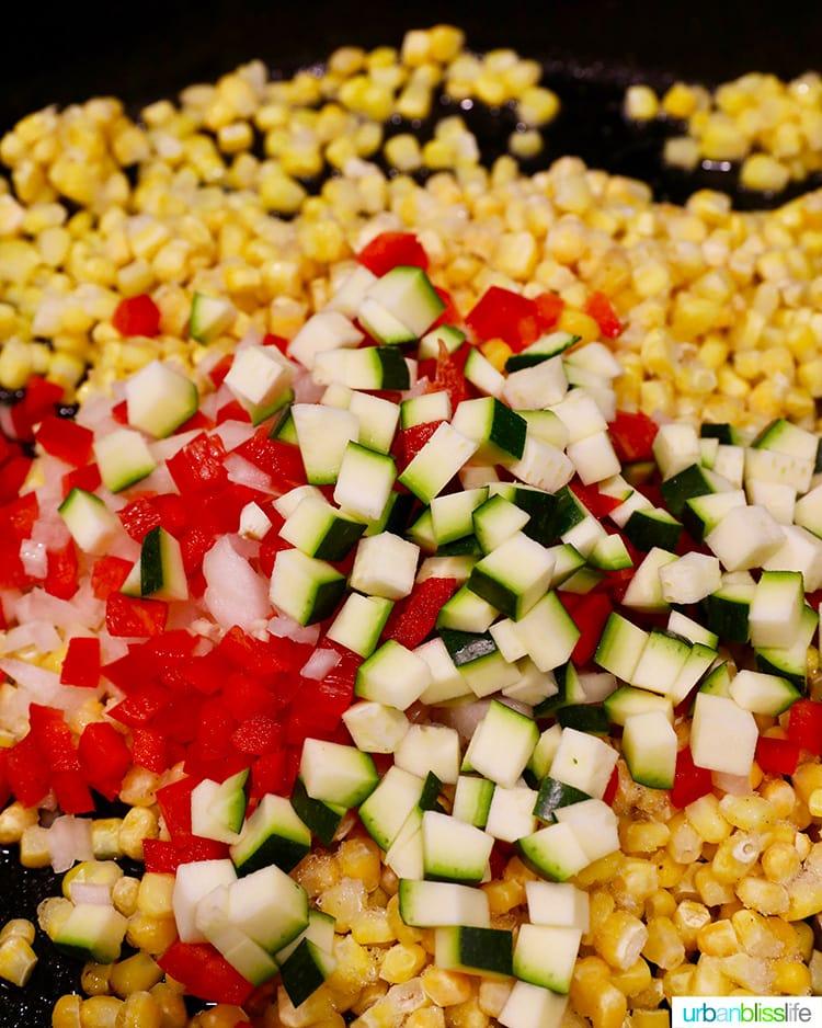 Creamy confetti corn veggies
