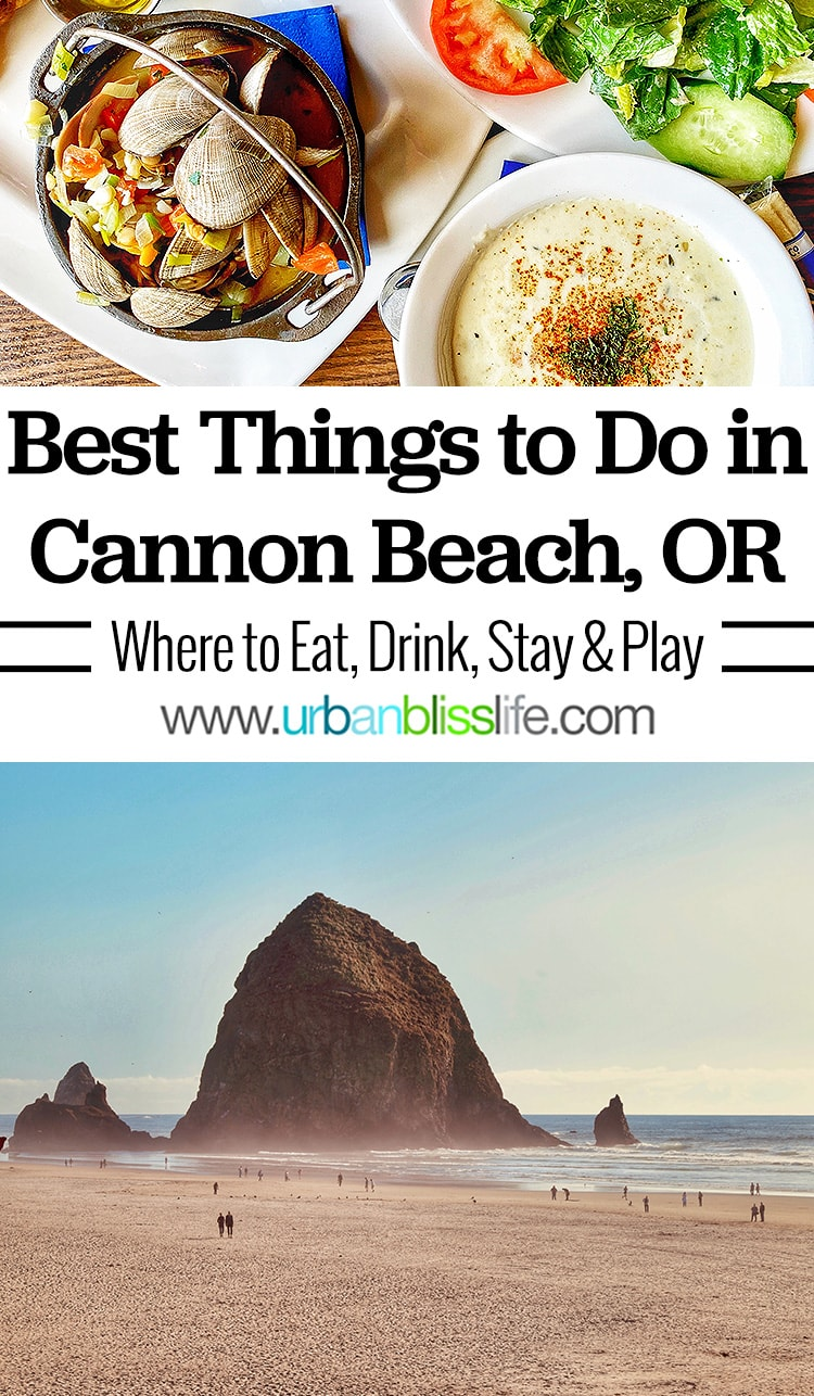 Best things to do in Cannon Beach, Oregon: haystack rock, lunch at Wayfarer