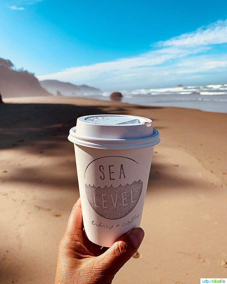 Sea Level Coffee cup at Hug Point