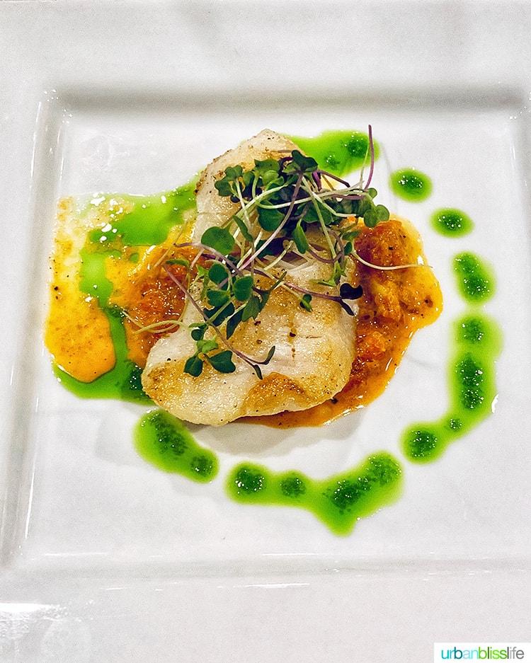 fish at Stephanie Inn restaurant