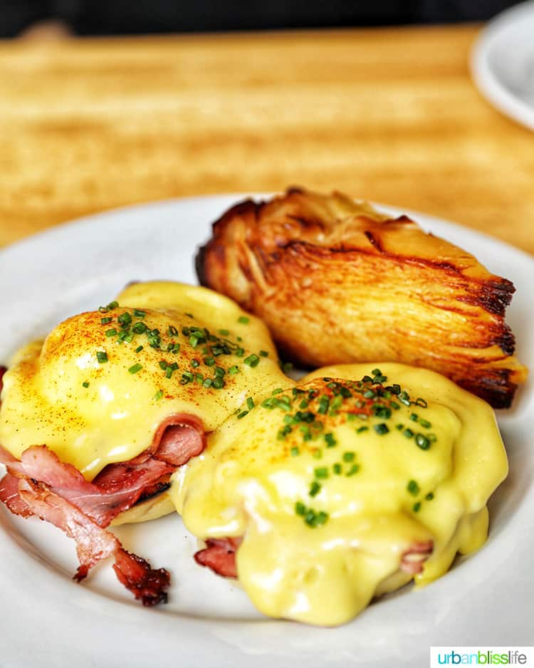 eggs benedict at Olympia Provisions