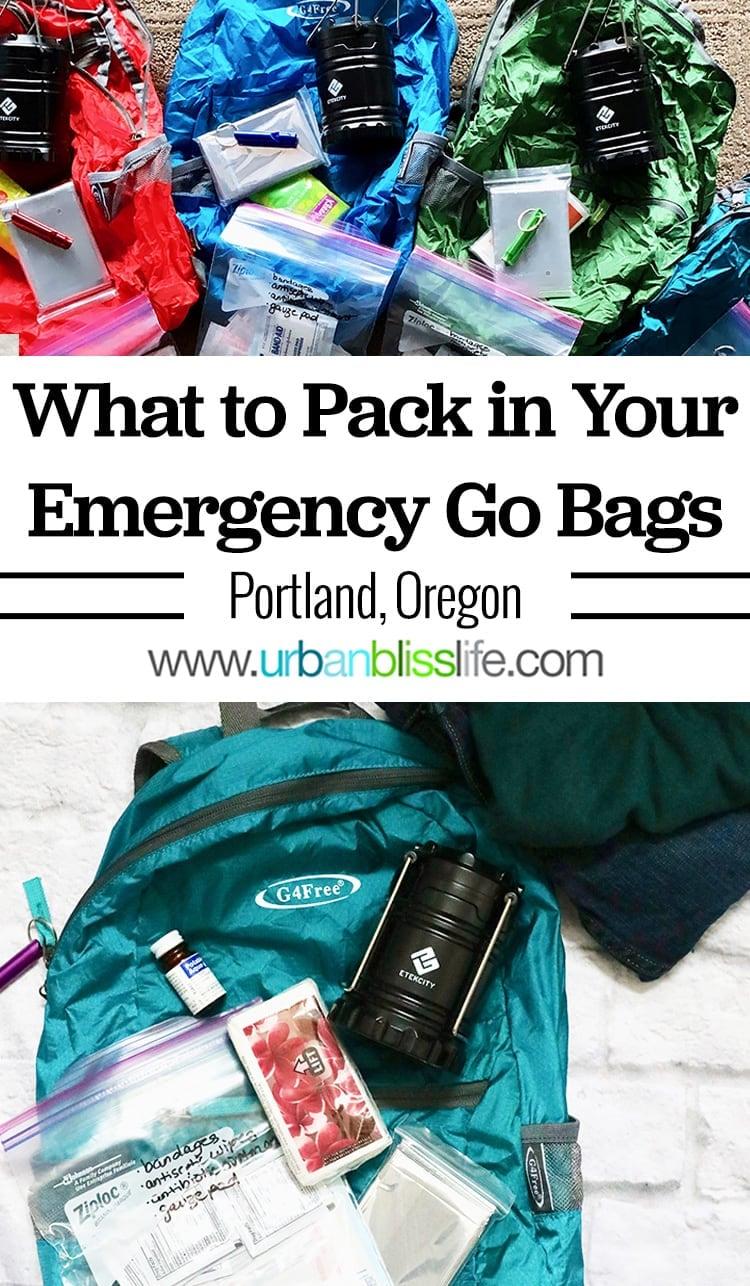 Emergency Go Bags