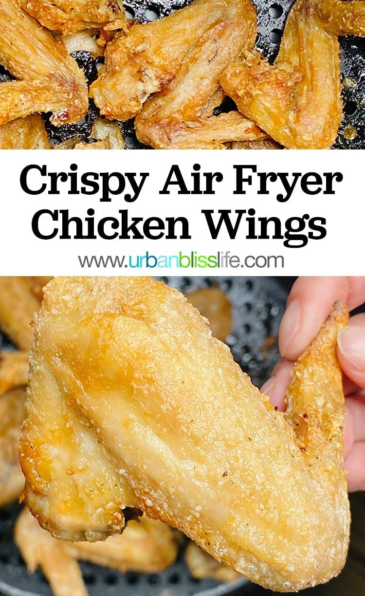 main image for crispy air fryer chicken wings