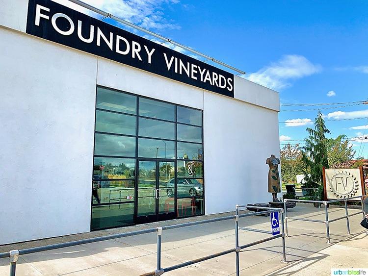 Foundry Vineyards wine tasting room in walla walla
