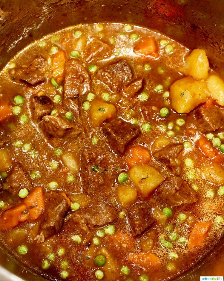 instant pot beef stew cooking