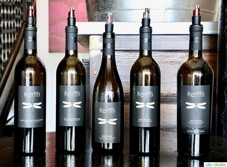 Kontos Cellars wine bottles