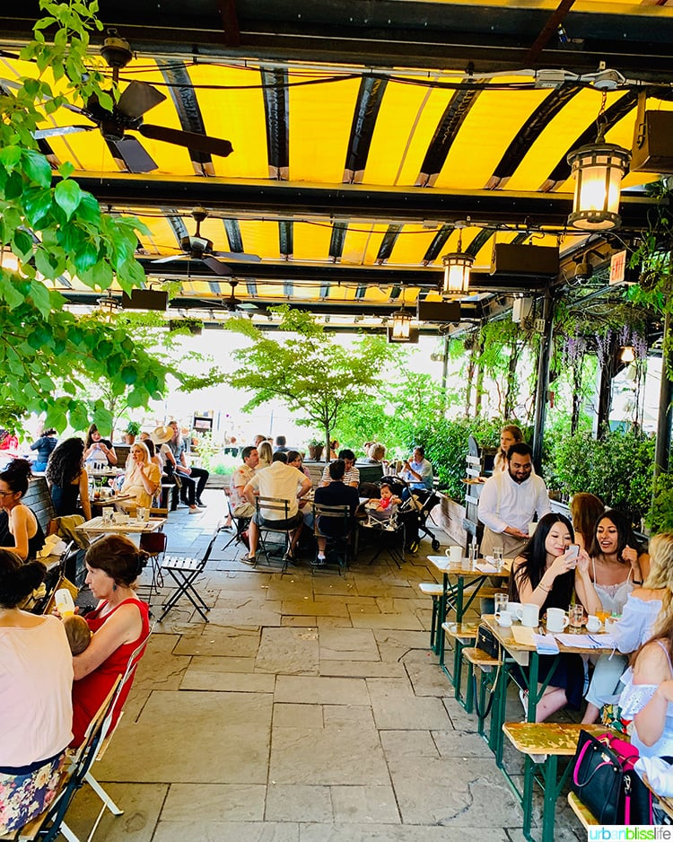 Gallow Green rooftop bar  in NYC