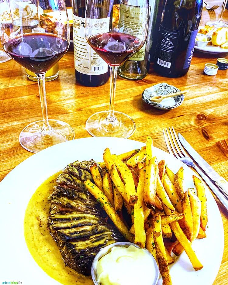 steak frites at brasserie four
