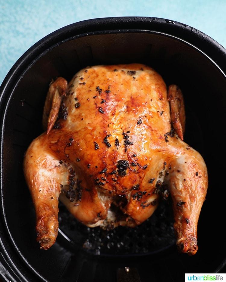 just air fried Air Fryer Rotisserie Chicken