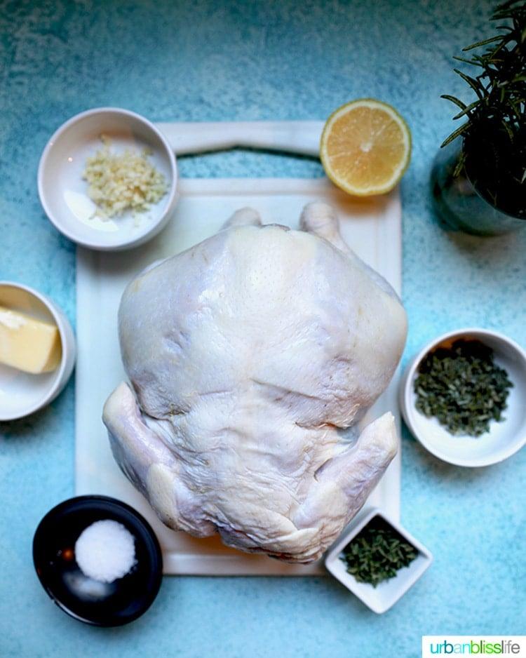 ingredients for Air Fryer Rotisserie Chicken
