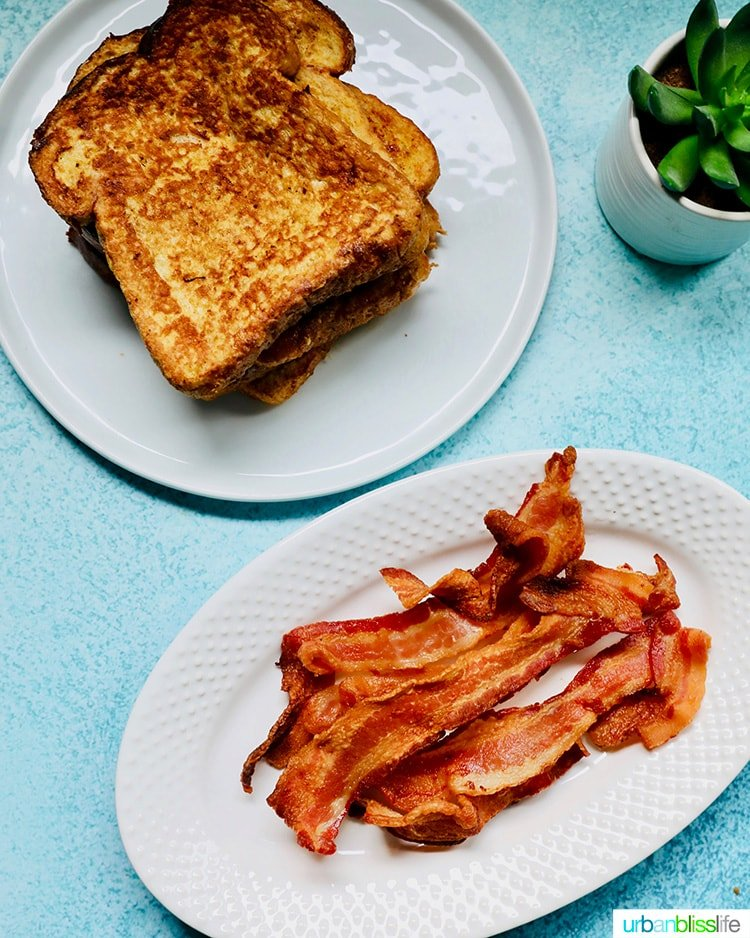 air fryer bacon and french toast