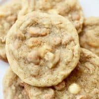 closeup of butterscotch cookies