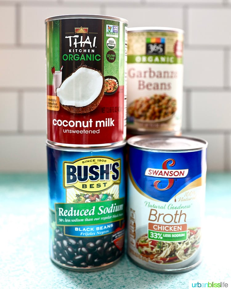 canned goods for pantry