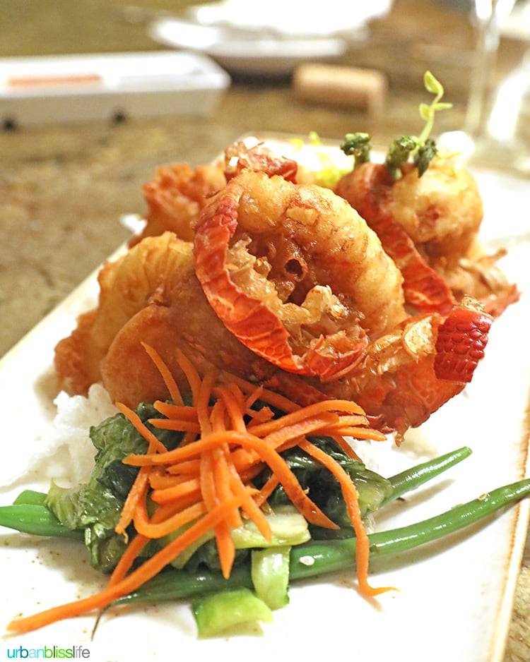 lobster at at Ko restaurant Fairmont Kea Lani Maui