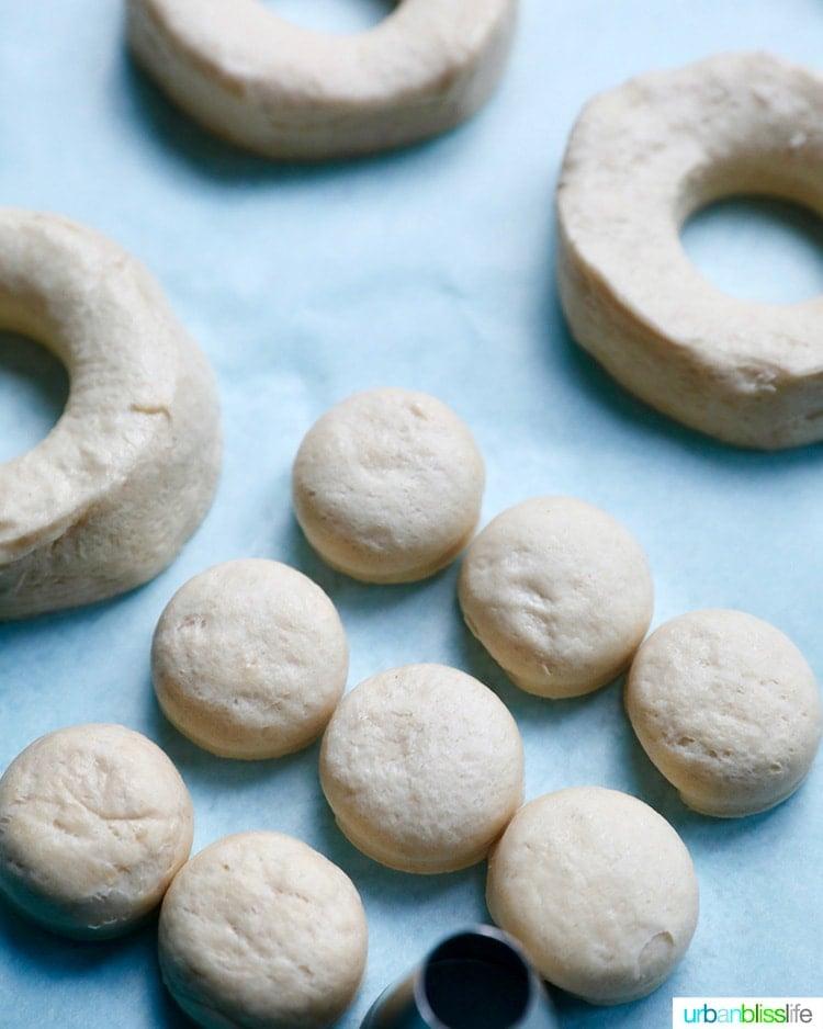 cut dough for air fryer donuts