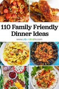 110 Family Friendly Dinner Ideas