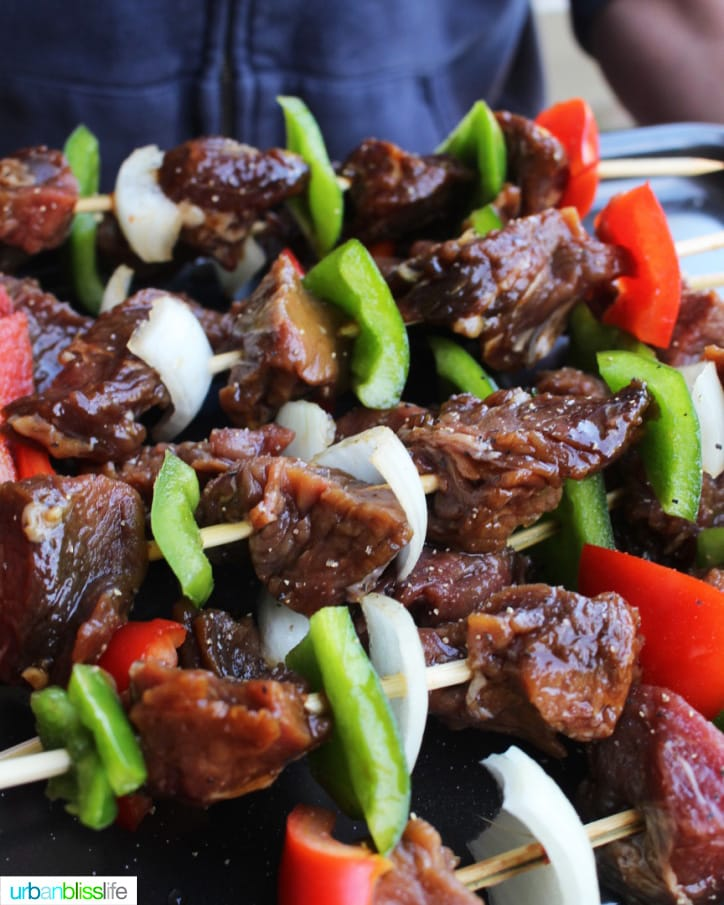 beef BBQ kabobs
