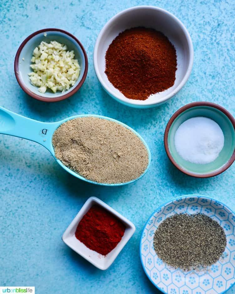 ingredients of ingredients to make best dry rub