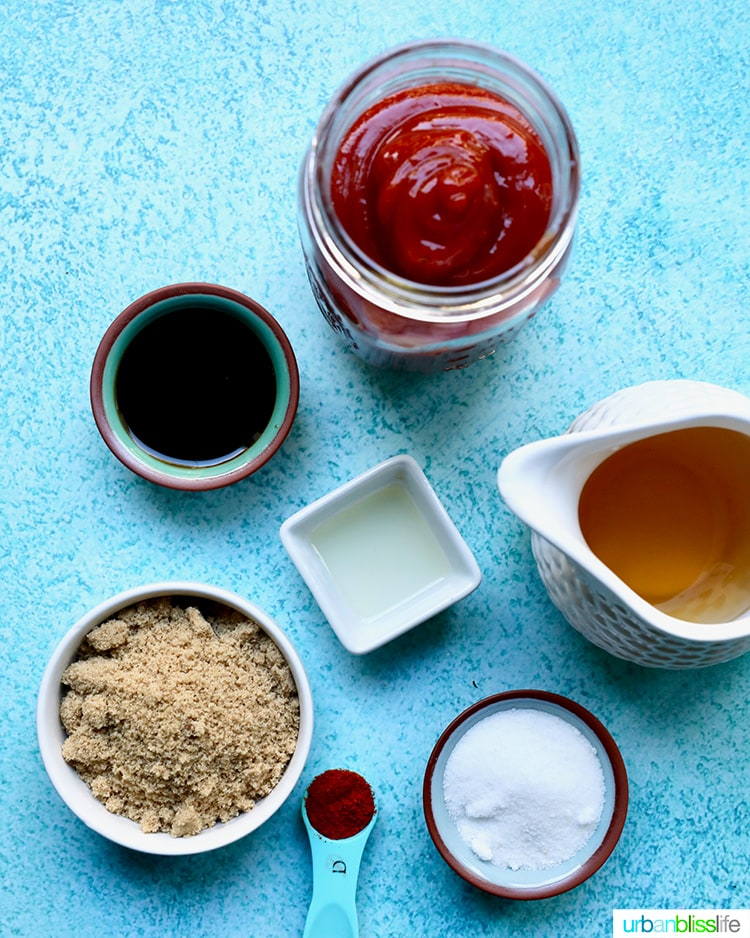 ingredients for Homemade Sweet BBQ Sauce