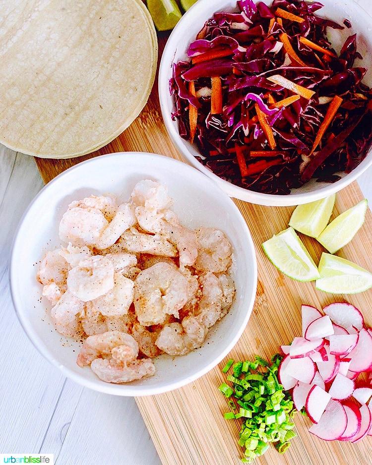 ingredients for shrimp tacos