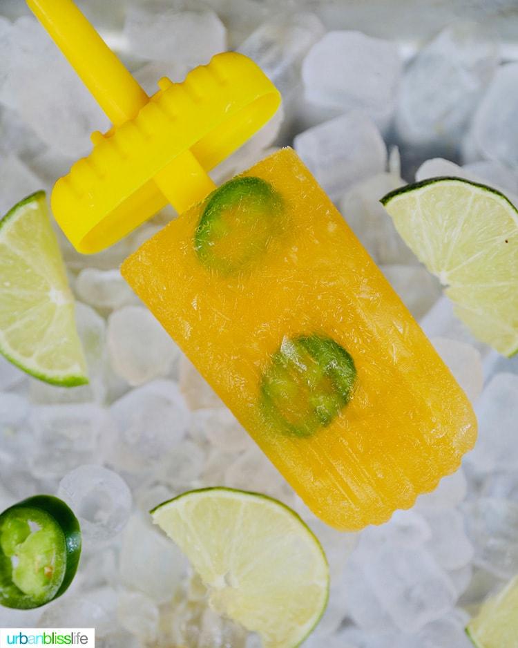 single Tropical Margarita Popsicle