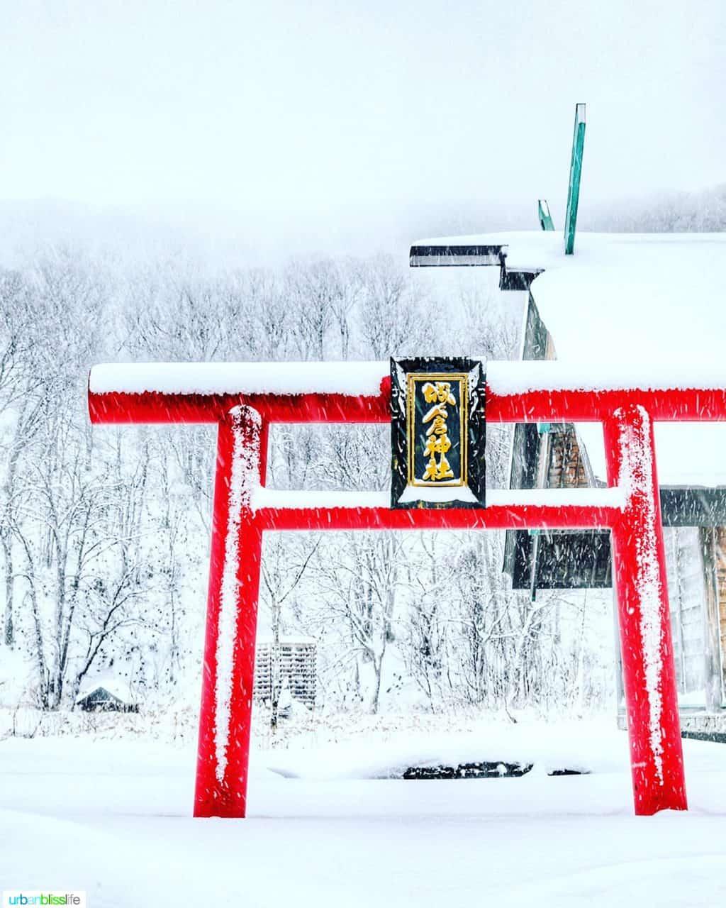 red torii gates in Aomori Japan