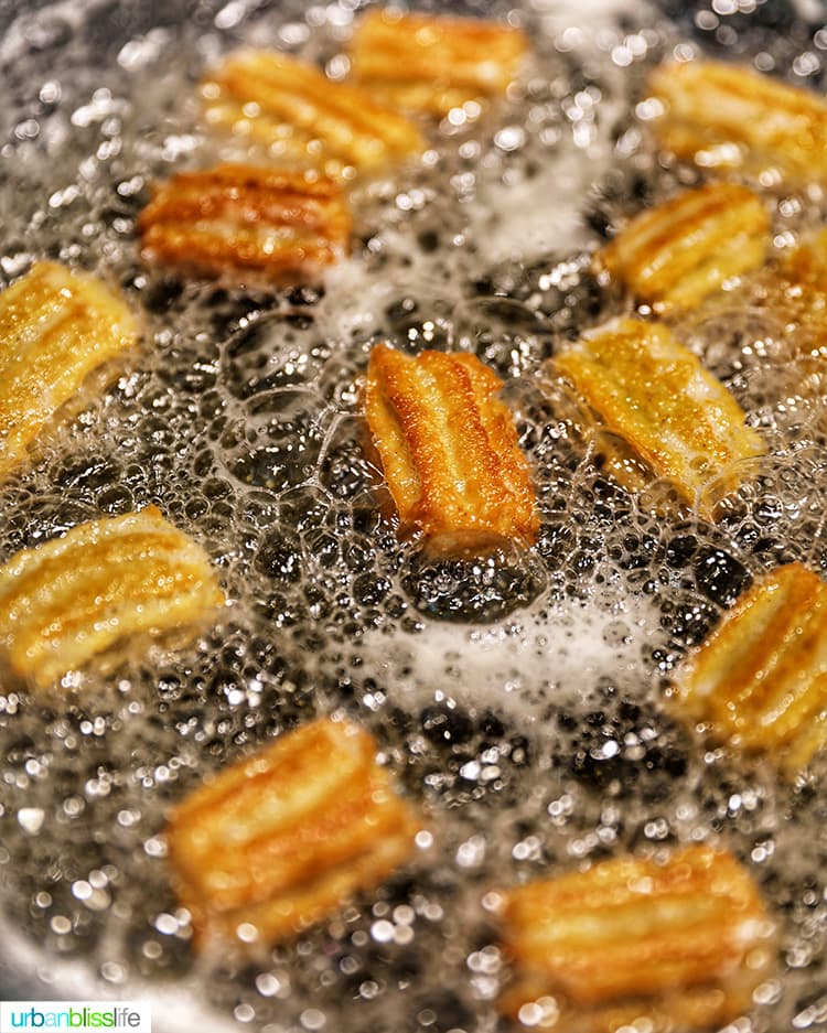 churros cooking in oil