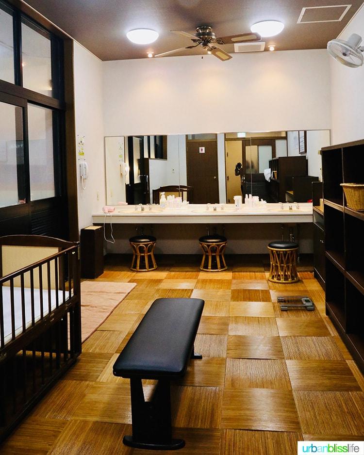 women's room for Japanese bath