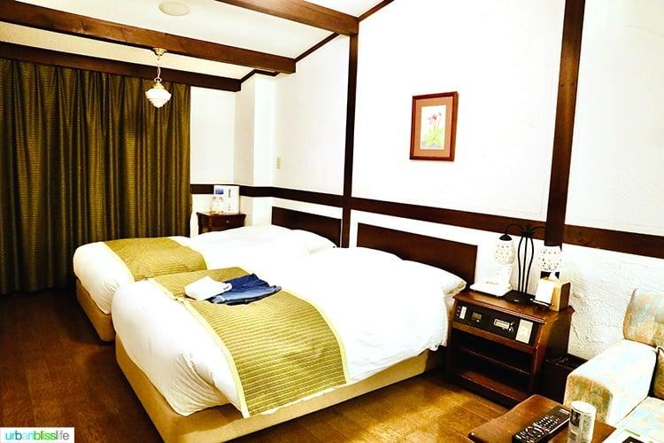 guestroom in Hotel Jogakura in Aomori Prefecture Japan