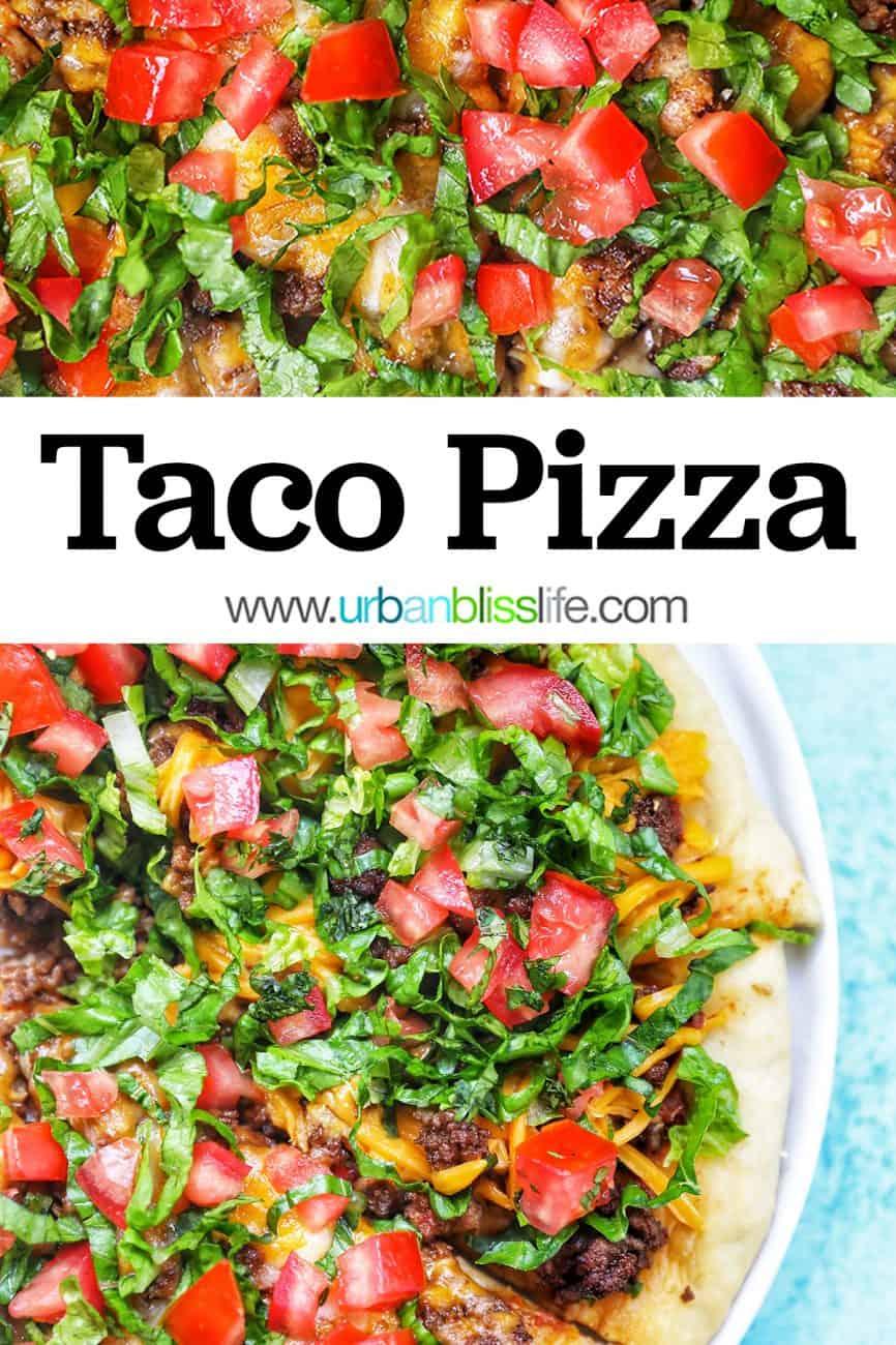 main graphic for taco pizza recipe