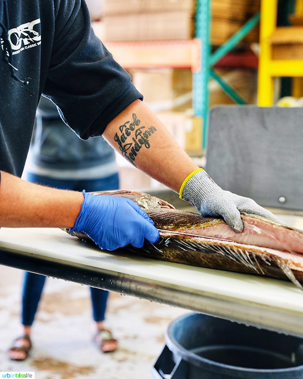 Fishpeople Seafood fish filet demonstration