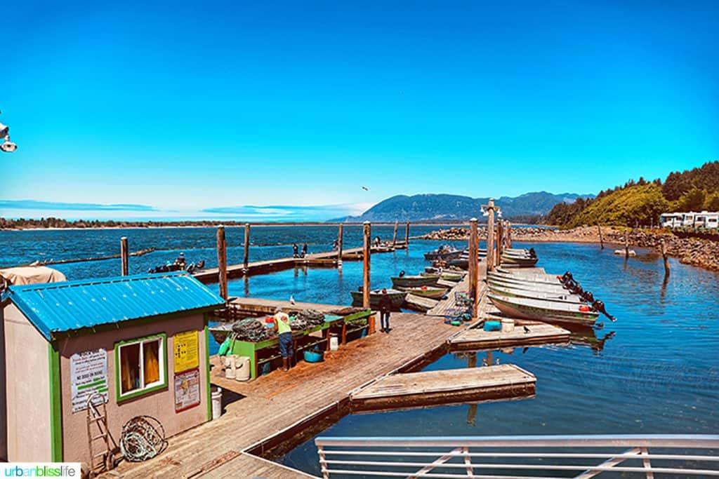 docks at Kelly's Brighton Marina in Rockaway, Oregon