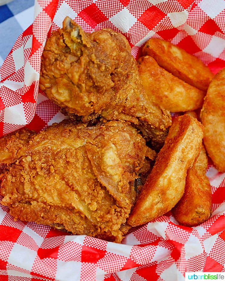 fried chicken and jo jos
