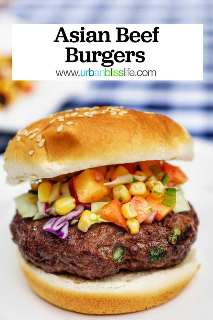 main graphic for asian beef burgers