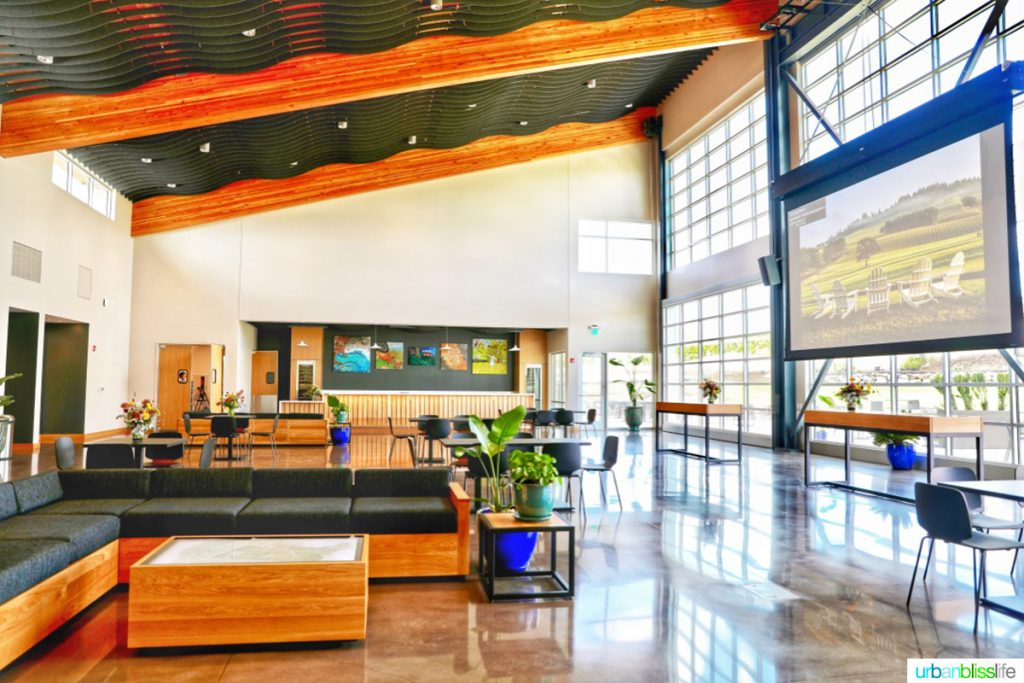 inside of Stoller winery's new Experience Center