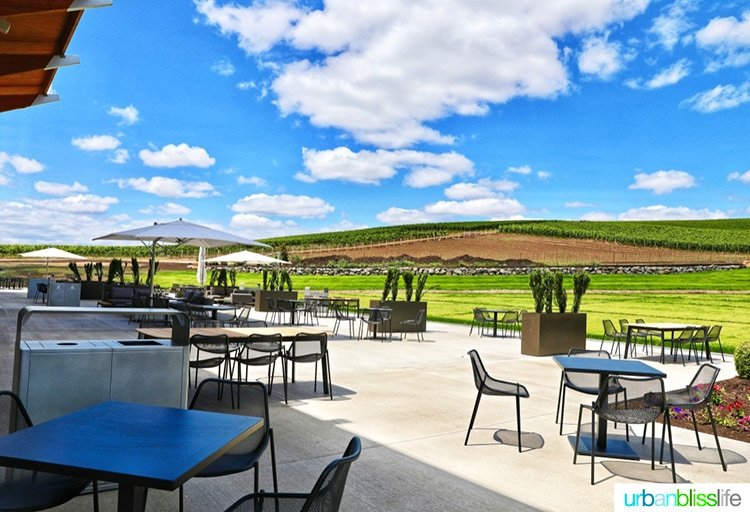 outside patio of new Stoller winery experience center
