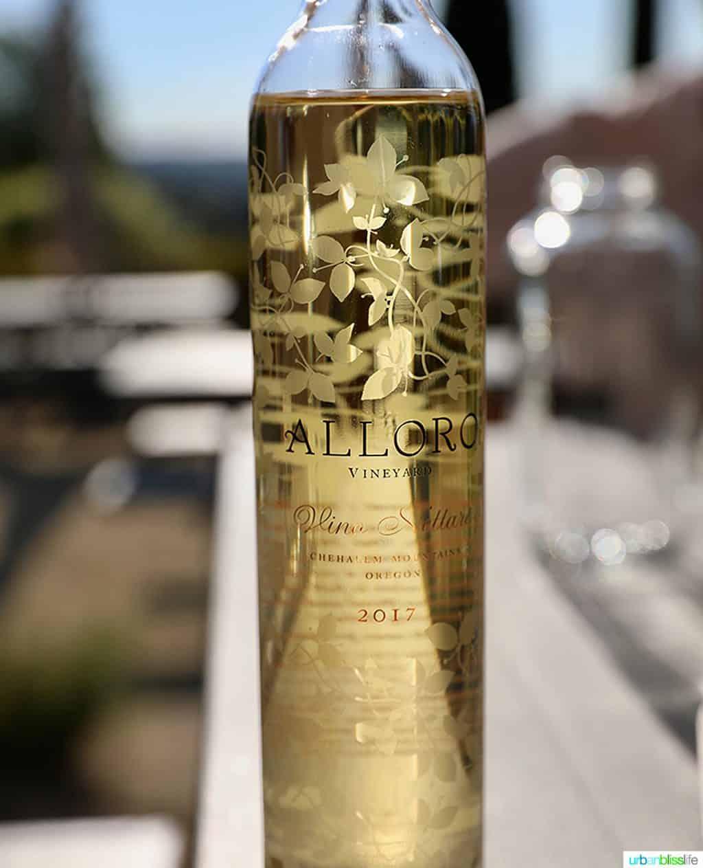 Alloro Vineyard ice wine