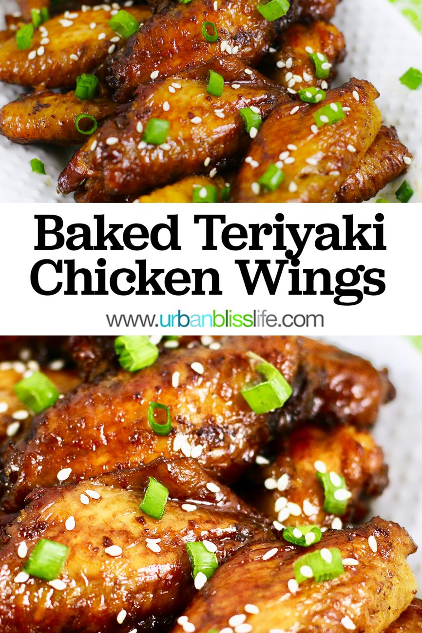 main graphic for baked teriyaki chicken wings