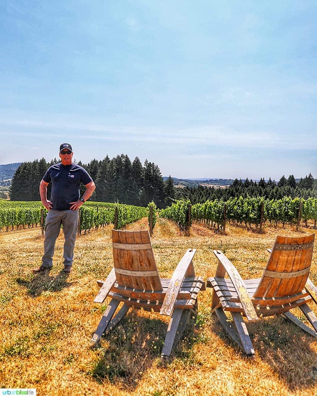 Utopia Vineyard owner Dan Warnshuis
