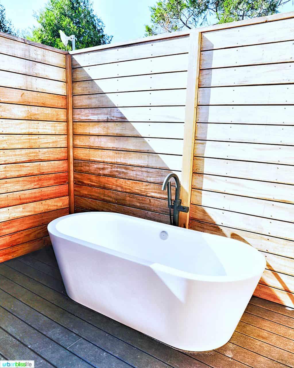 big outdoor soaking tub