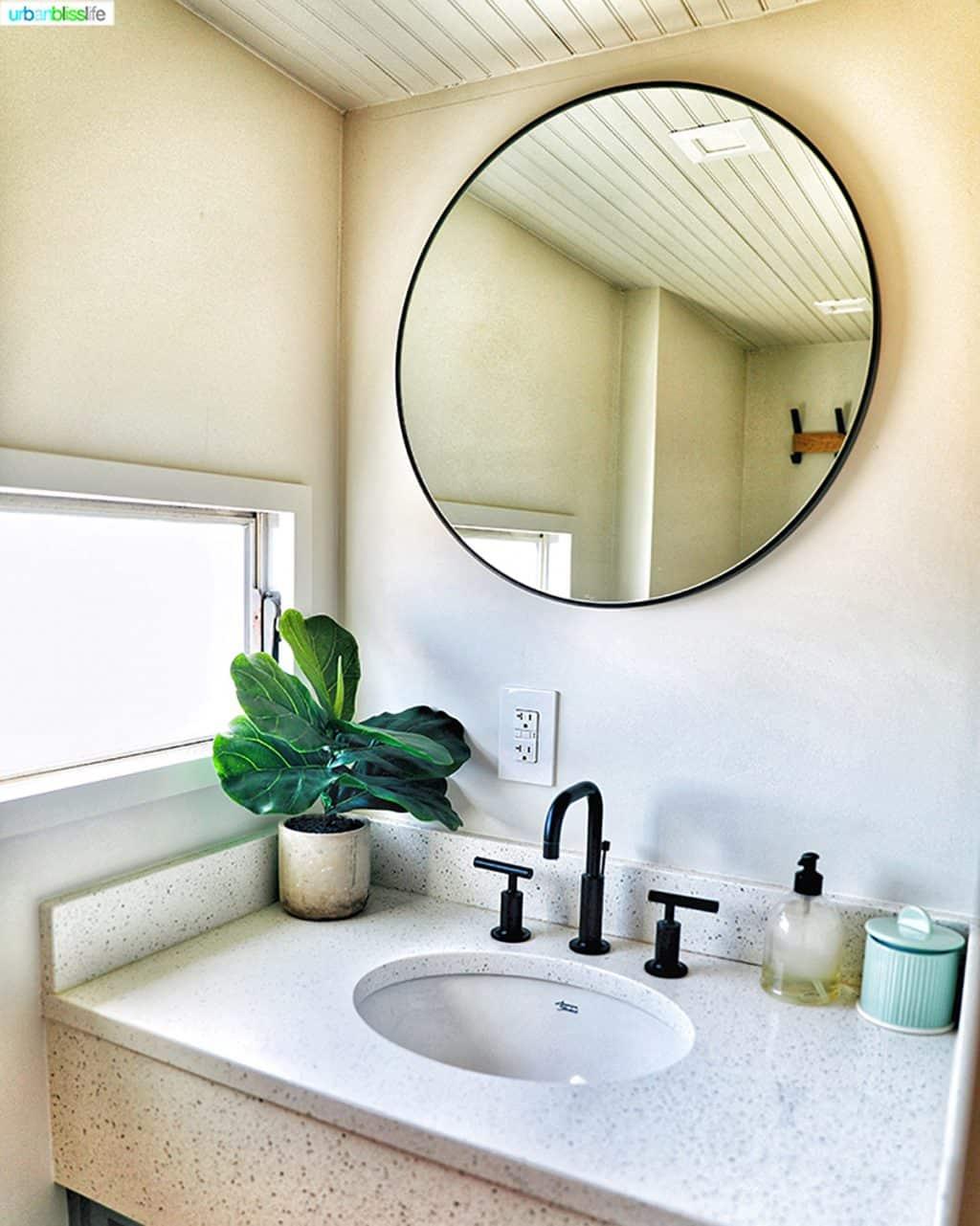 bathroom vanity Vintages Trailer Resort