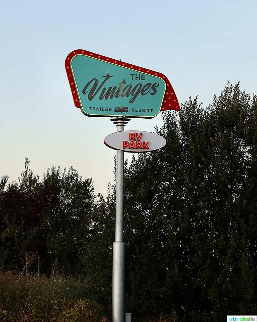 vintages trailer resort sign