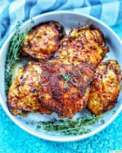 feature photo if air fryer paprika chicken