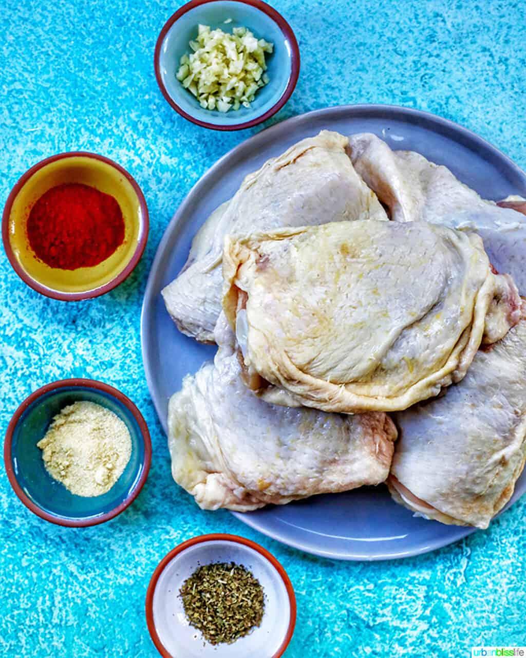 ingredients for air fryer paprika chicken