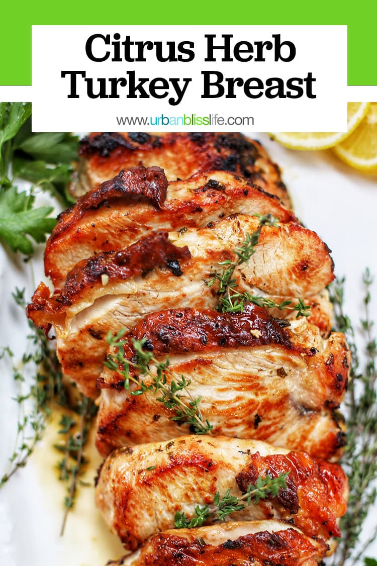 Citrus Herb Turkey Breast with text overlay