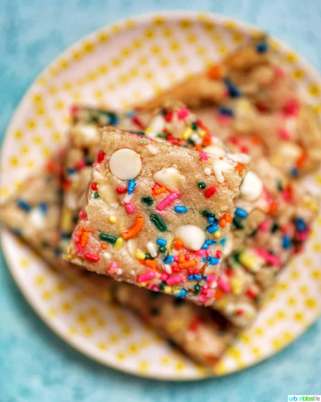 stack center Funfetti Cookie Bars