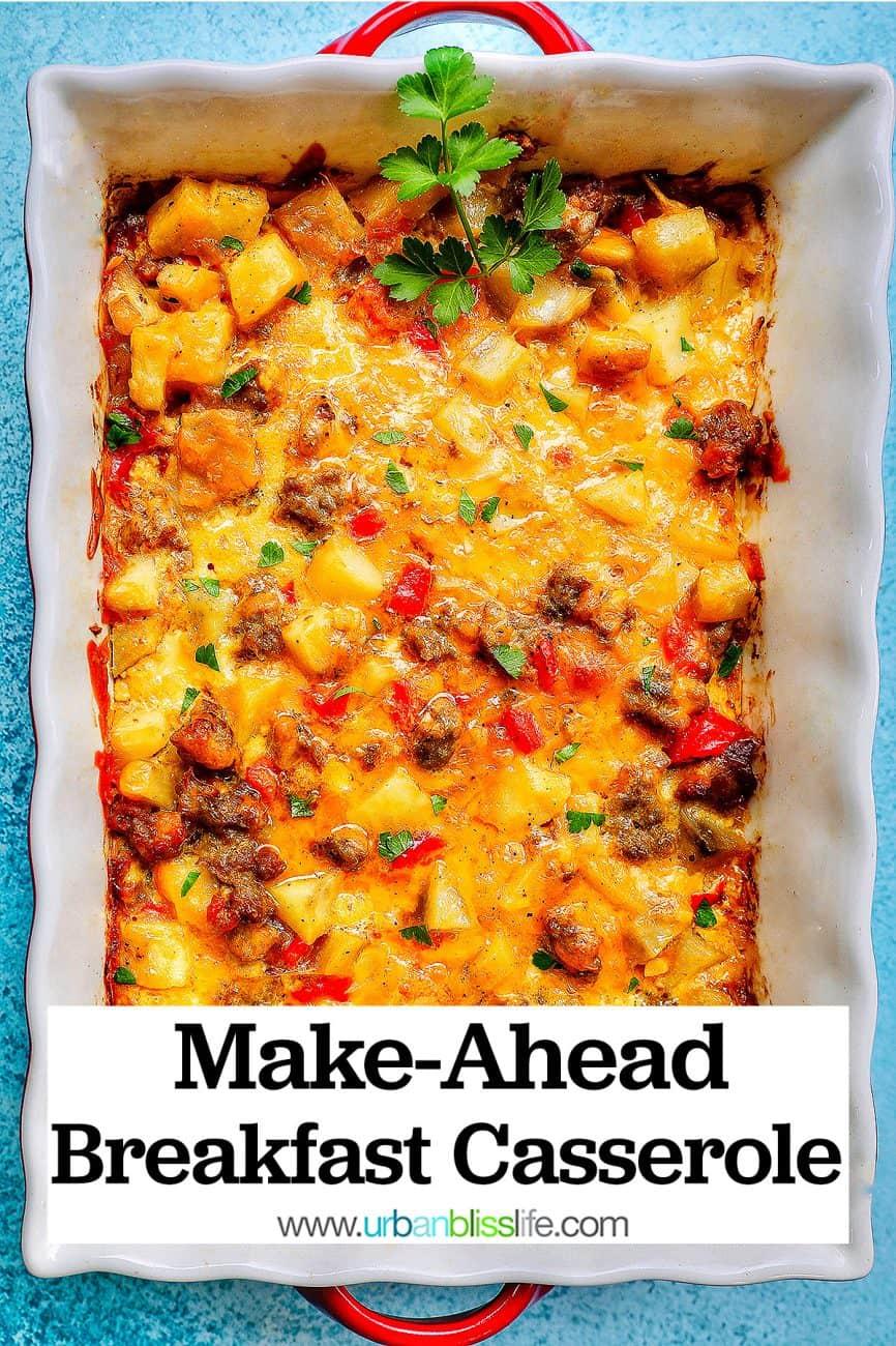 make ahead overnight breakfast casserole