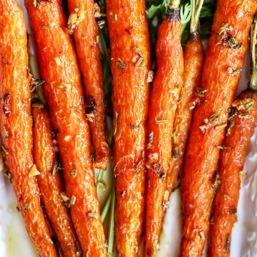 garlic rosemary glazed carrots
