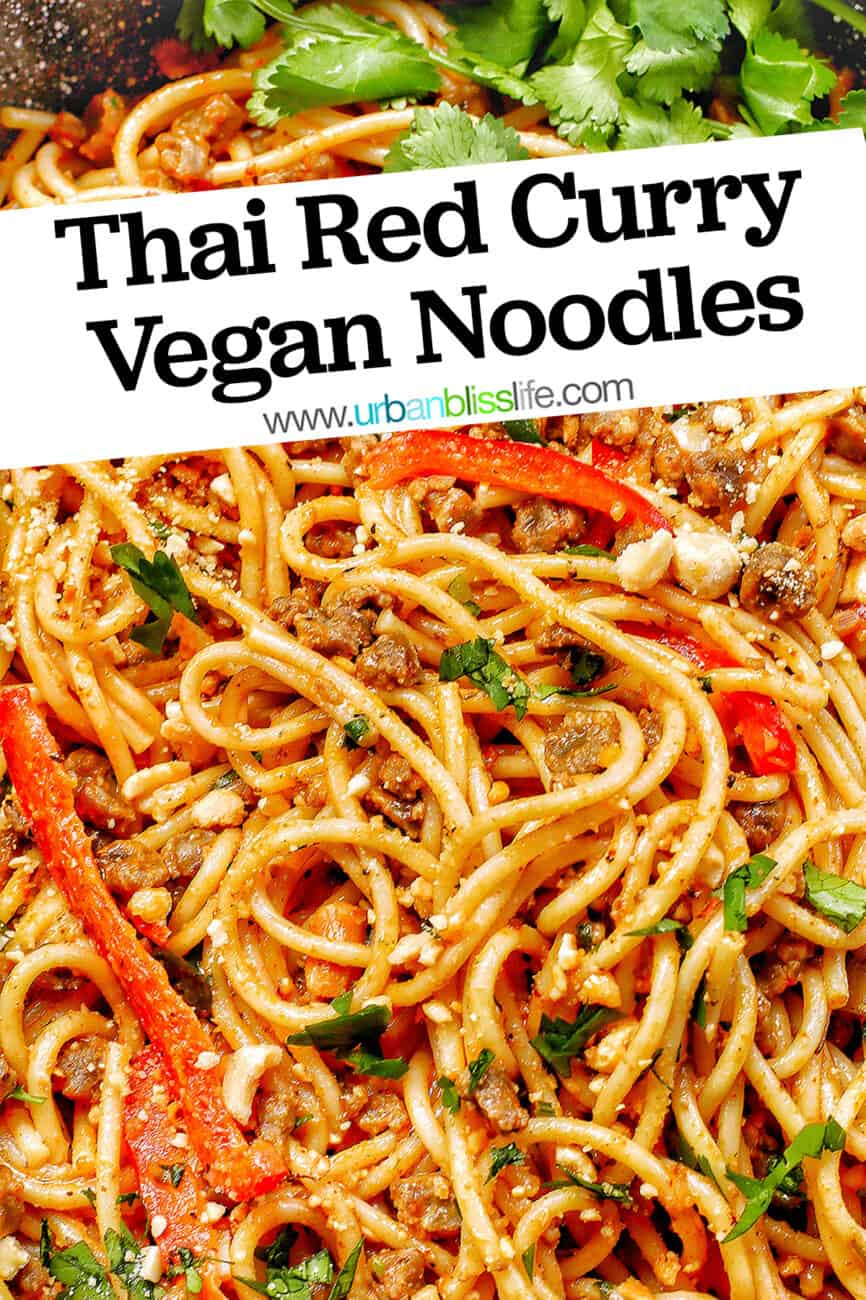 Thai Red Curry Vegan Noodles with title