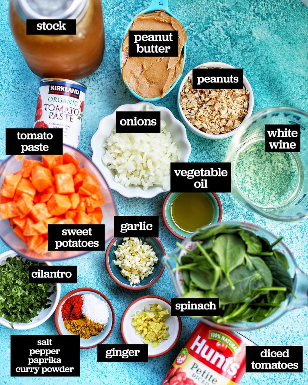 ingredients to make Instant Pot African Peanut Stew